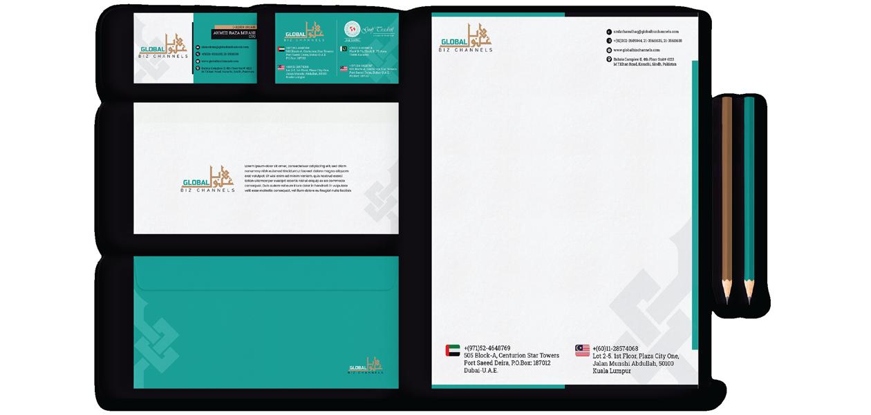 global biz channel stationery digital and print media