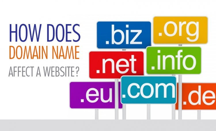 how does a domain name affect a website?